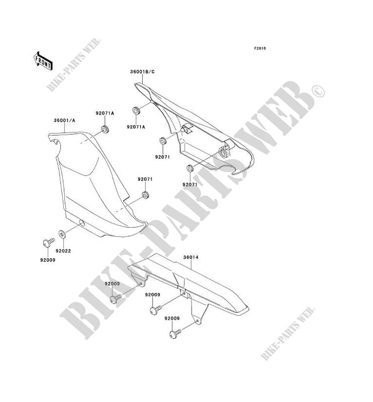 SIDE COVERS   CHAIN COVER voor Kawasaki ELIMINATOR 250V 2000
